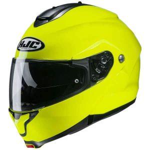 HJC-C91-Fluorescent-yellow-Modular-Helm-Casque-Kask-Casco-1
