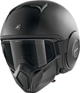 Shark_STREET_DRAK_BLANK_MAT_KMA_Black_Mat_Jet_Helmet_Helm_Casque_Kask_Casco_1