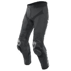 Dainese Alpha Perf. Leather Pants Black/Black/White